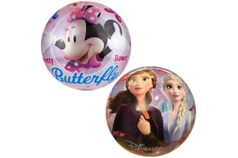 Disney Frozen 2 & Minnie 23cm Kids Inflatable Rubber Ball Playball Toy 3+