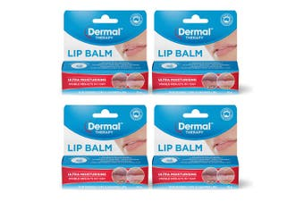4x Dermal Therapy 10g Ultra Moisturising Balm/Hydrating Pod for Dry/Chapped Lips
