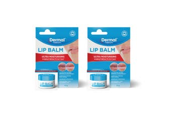 2x Dermal Therapy 10g Ultra Moisturising Balm/Hydrating Jar for Dry/Chapped Lips