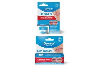2x Dermal Therapy 10g Ultra Moisturising/Hydrating Balm Jar/Pod Dry/Chapped Lips