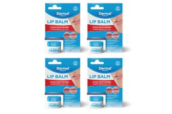 4x Dermal Therapy 10g Ultra Moisturising Balm/Hydrating Jar for Dry/Chapped Lips