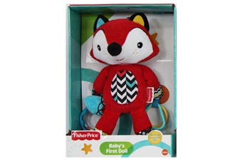 Fisher Price First Doll 25cm Fox Soft/Huggable/Educational Toy w/Rattle Baby 0m+