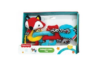 Fisher Price Fox Animal Links/Rings Educational/Interactive Teether Toy Baby 6m+