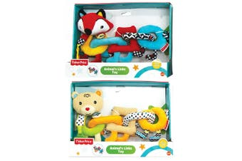 2PK Fisher Price Bear/Fox Animal Links/Rings Educational Teether Toy Baby 6m+