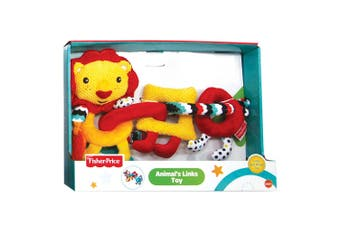 Fisher Price Lion Animal Rings Educational/Interactive Teether Toy Baby 6m+