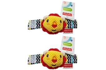 2x Fisher Price Wirst/Ankle Rattle Educational/Interactive Soft Toy Baby 0m+ YL