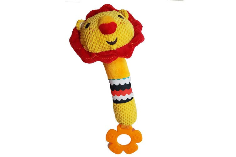 Fisher Price Lion Squeak Rattle Educational Toy Teether Nursery/Baby/Infant 0m+