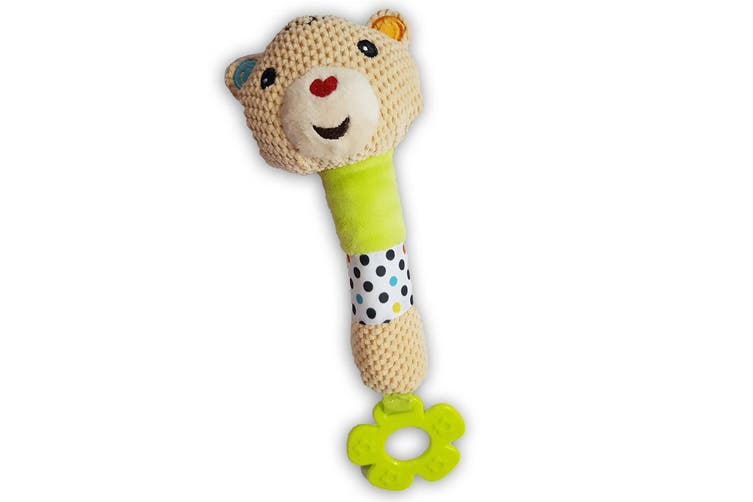 2PK Fisher Price Squeak Rattle Educational Bear/Lion Toy Teether Baby/Infant 0m+