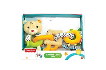 Fisher Price Bear Animal Rings Educational/Interactive Teether Toy Baby 6m+