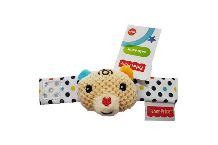 Fisher Price Wirst/Ankle Rattle Educational/Interactive Soft Toy Baby 0m+ Bear