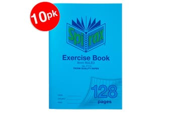 10x Spirax 70GSM 128 Pages A4 8mm Ruled No.P110 Exercise Book School Notebook