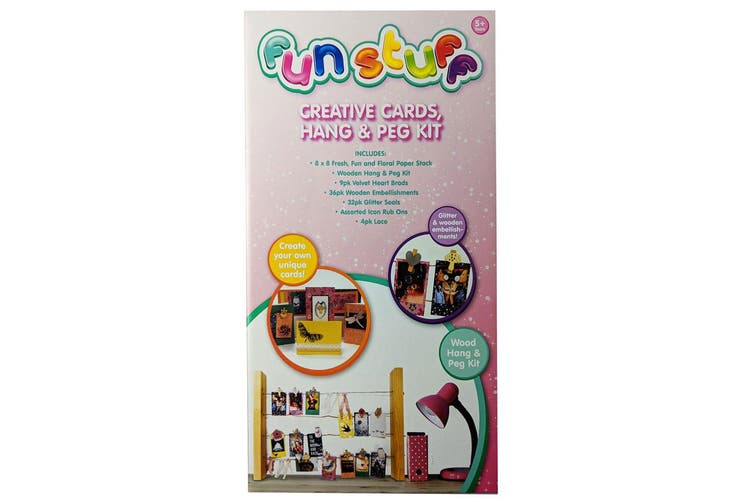 Fun Stuff Kids/Children 5y+ DIY Creative Cards/Hang/Peg Arts Craft/Decor Toy Kit