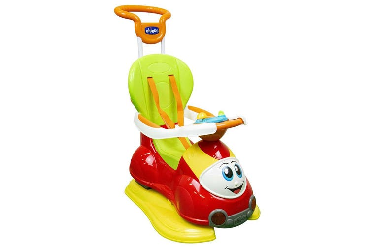 Chicco Quattro 4 in 1 Push/Walk/Rocker Sit/Ride On Play Toy Baby/Infant 0-9m Red