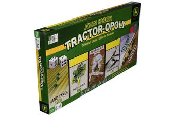 John Deere Tractor-opoly Board Game Kids/Family Children Toy Collector's Edition