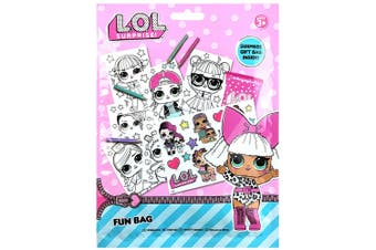 LOL Surprise Fun/Gift Bag w/ Colouring Pencils/Sticker Sheets f/ Kids/Unisex 3y+