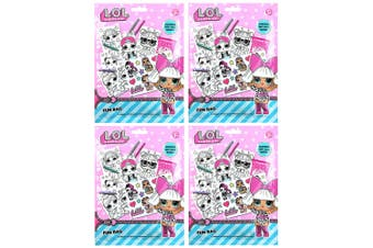 4x LOL Surprise Fun/Gift Bag Colouring Pencils/Sticker Sheets f/ Kids/Unisex 3y+