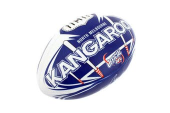 Summit AFL North Melbourne Kangaroos 20cm Large/Soft Rugby Ball Play/Game Kids