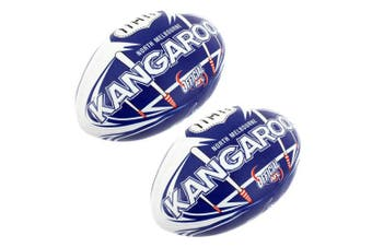 2x Summit AFL North Melbourne Kangaroos 20cm Large/Soft Rugby Ball Play/Game