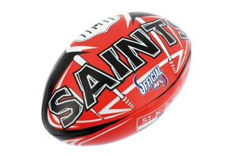 Summit AFL St Kilda Saints 20cm Large/Soft Rugby Ball Play/Game/Toys Kids/Boys