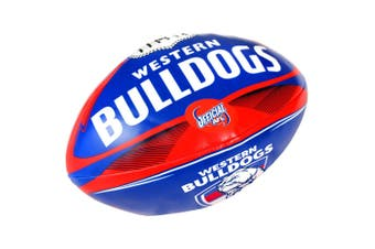 Summit AFL Western Bulldogs 20cm Large/Soft Rugby Ball Play/Game/Toys Kids/Boy