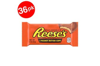 36PK Reese's 2 Peanut Butter Cups 1.53 kg Confectionery Milk/Chocolate/Sweet