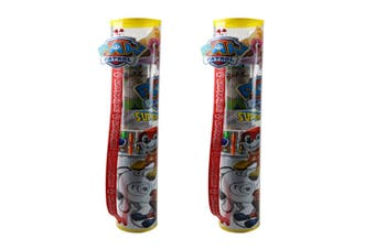 2PK Paw Patrol Activity/Colouring Tube Art Craft Kit w/Sticker/Pencil/Poster 3y+
