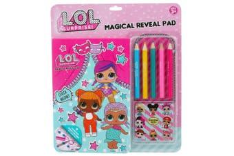LOL Surprise Magical Reveal Pad Kids/Children Colouring Book w/ Colour Pencils