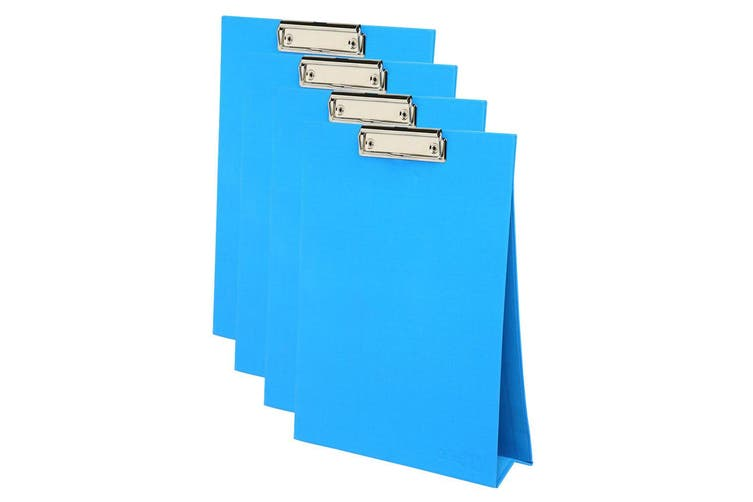 4PK ColourHide A4 Paper Stand Up Clipboard/Whiteboard Document Writing Board BL