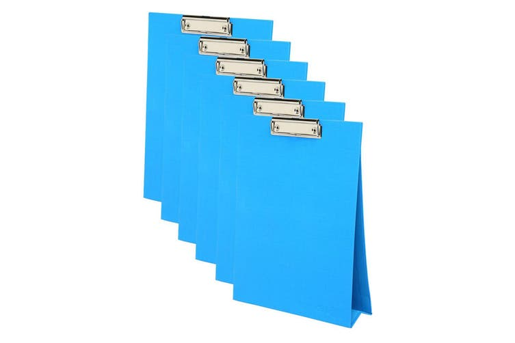 6PK ColourHide A4 Paper Stand Up Clipboard/Whiteboard Document Writing Board BL