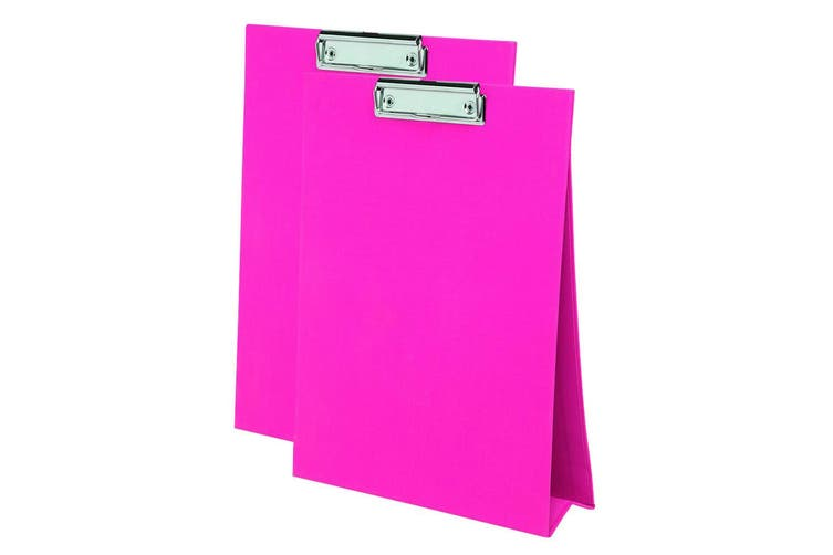 2PK ColourHide A4 Paper Stand Up Clipboard/Whiteboard Document Writing Board PK