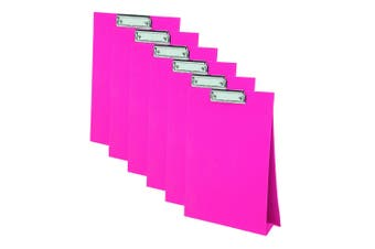 6PK ColourHide A4 Paper Stand Up Clipboard/Whiteboard Document Writing Board PK