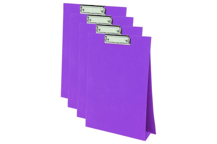 4PK ColourHide A4 Paper Stand Up Clipboard/Whiteboard Document Writing Board PP