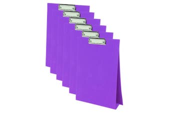 6PK ColourHide A4 Paper Stand Up Clipboard/Whiteboard Document Writing Board PP