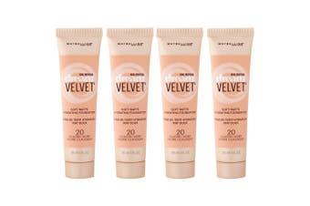 4PK Maybelline Dream Velvet Soft Matte Gel-Whipped Foundation 20 Classic Ivory