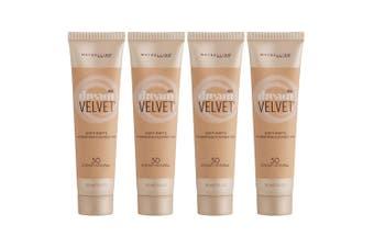 4PK Maybelline Dream Velvet Soft Matte Gel-Whipped Foundation 50 Creamy Natural