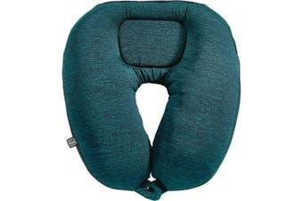 Go Travel Double Decker Bean Head/Neck Support Pillow Comfort Cushion Green
