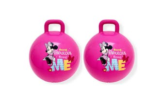 2PK Disney Minnie Mouse Hopper Ball Kids/Children Fun Bounce Outdoor Toy Handle