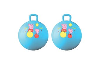 2PK Peppa Pig Hopper Ball Kids/Children Fun Bounce Jumping Outdoor Toy w/ Handle