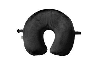 Go Travel Memory Foam Head/Neck/Shoulder Support Pillow Comfort Cushion Black