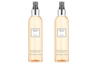 2x Vera Wang Embrace 240ml Marigold/Gardenia Body Mist Women/Ladies Fragrance