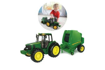 John Deere Ertl 1:16 Big Farm Tractor & Hay Baler/Toy/Kids/Children/Play/3yr+