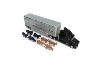 Tomy ERTL 59cm 1:32 Peterbilt Model 579 Truck Semi Livestock Trailer/Toy/Kids