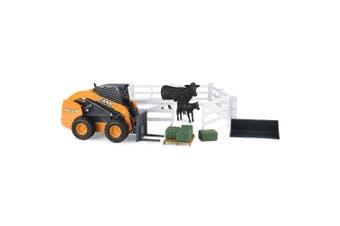 Case IH 1:16 Big Farm Skid Steer Construction Hobby Farm Toys Set Kids 3y+ OR
