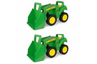 2PK John Deere Tractor 38cm Kids Vehicle Dump Truck Toy/Play w/ Big Scoop 18m+