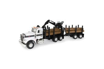 Peterbilt Big Farm 1:16 367 Logging Truck w/ Pup Trailer/Logs Toy/Kids/Play/Game