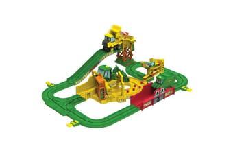 John Deere Big Loader Johnny Kids Tractor Track w/Motorised Vehicle Kids Toy 3y+