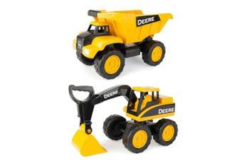 John Deere 38cm Big Scoop Excavator w/ Construction Dump Truck Kids Toys/3y+ YL