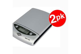 2PK Wedo Optimo Kitchen/Lab 0.5g - 1kg Digital Scale 0.5g increments Silver