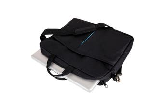 "Jastek School/Business 15"" Shoulder/Messenger Bag f/Laptop w/Shoulder Strap BLK"