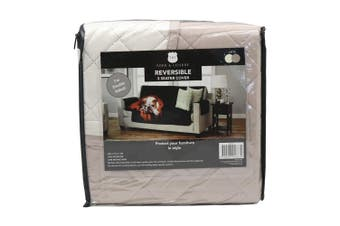 York & Leisure 2.79m Reversible 3 Seater Couch/Sofa/Chair Cover Pets/Dogs Latte